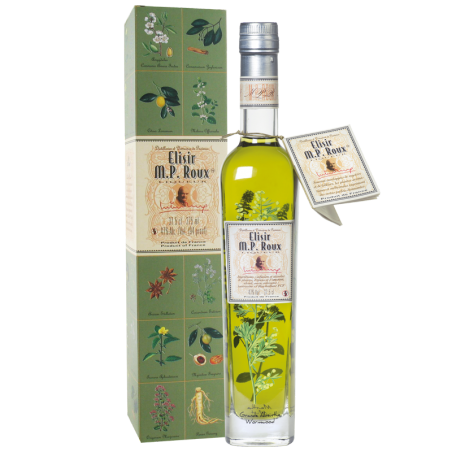 Elisir M.P. Roux, plants and spices liqueur