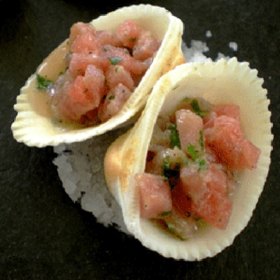 Tuna Tartare with Provençal Vinaigrette with HB Pastis