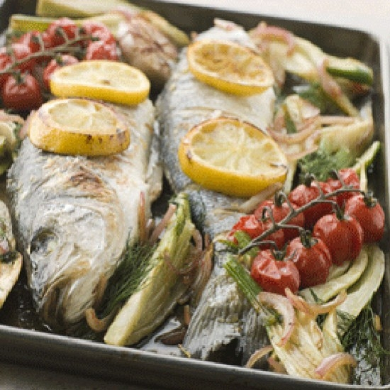 Sea bass with fresh fennel