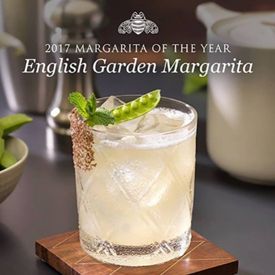 ENGLISH GARDEN MARGARITA créé par Sophie Bratt du Oxo Tower Restaurant (Londres)