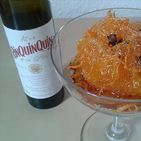 Semi-candied oranges marinated with RinQuinQuin