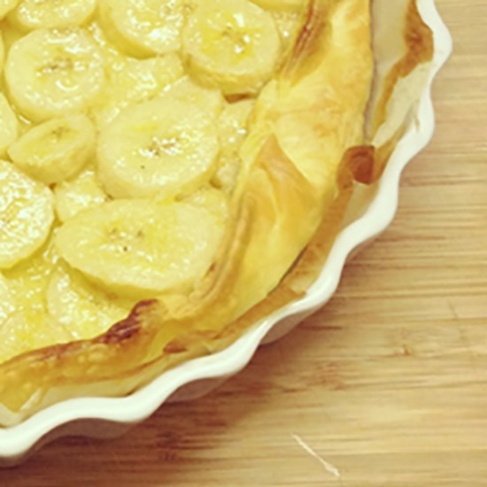 Banana pie with Pastis Henri Bardouin
