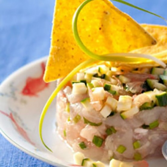 Sea bream tartare with anise