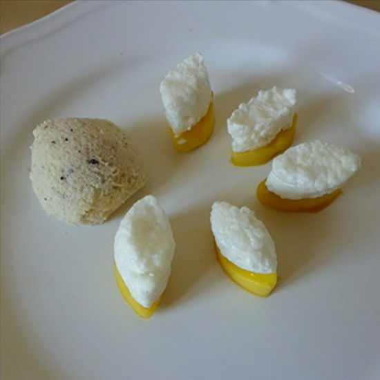 Calissons with mango, sweet almond and RinQuinQuin