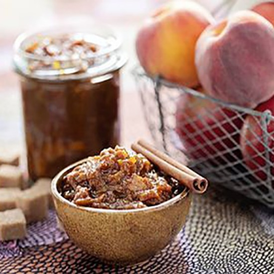 Peach and apple chutney with RinQuinQuin