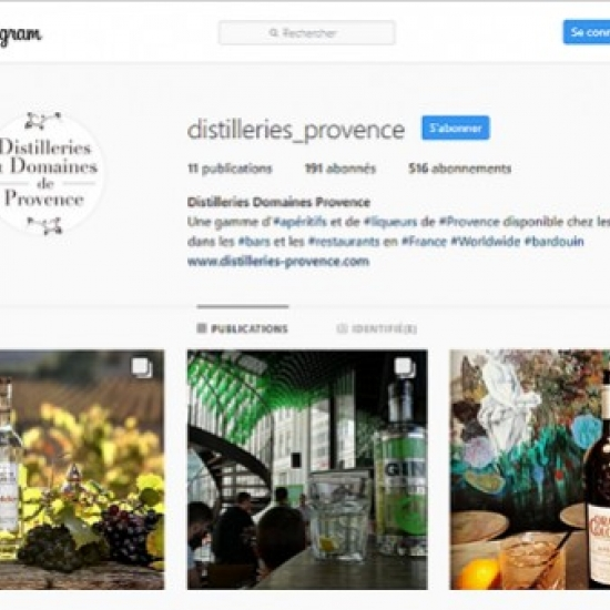 Distilleries and Domains of Provence open its own Instagram page!