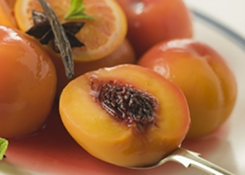 Browned Peaches with Spices