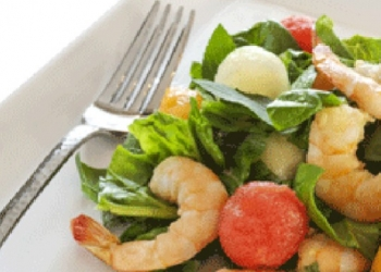 Melon and Shrimp Salad HB Pastis Flambé