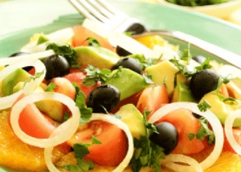 Olive, Avocado and Orange Salad with Pastis