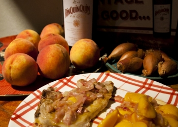 Pork chops Peaches RinQuinQuin