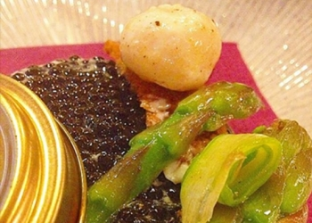 Illusion caviar asparagus with Pastis Henri Bardouin by Jeremy Galvan