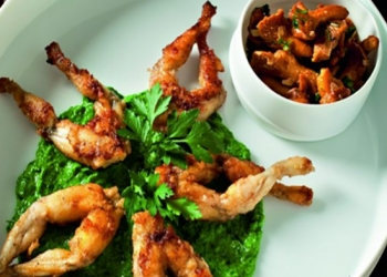 Frog legs with Grande Absente (69 °)