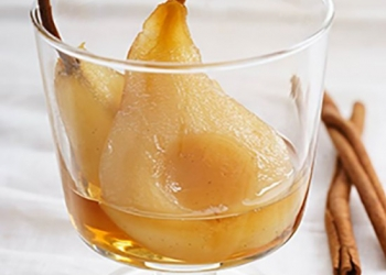 Pears poached with RinQuinQuin