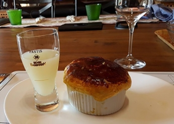Mussel timbale to accompany a glass of Pastis Henri Bardouin by Patounet