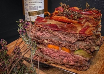 Terrine of beef and sirloin in Farigoule, by the Leader Frédéric Payan