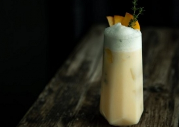 Peaches and Cream 2.0 by  Monica C ''Inspiring Home Bartenders''